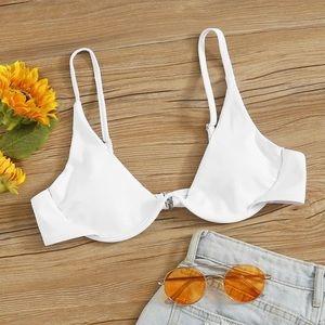 White underwire bikini top